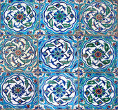 Oriental tiles. Detail from Topkapi palace in Istanbul (nine peaces Royalty Free Stock Images
