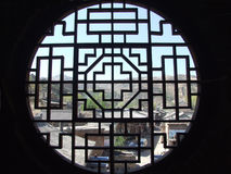 Oriental traditional architectural window style Stock Photo