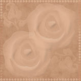 Oriental traditional brown floral ornament Royalty Free Stock Images