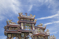 Oriental traditional details on pagoda temple Stock Photography