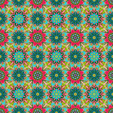 Oriental traditional floral ornament, seamless pattern, tile design, vector illustration Royalty Free Stock Photography