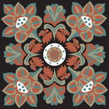 Oriental traditional lotus flower goldfish square pattern Royalty Free Stock Photos