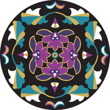 Oriental traditional lotus flower leaf circle pattern Stock Images