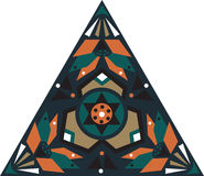 Oriental traditional lotus flower triangular pattern Stock Image