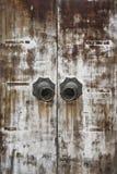 Oriental traditional wood door Stock Image
