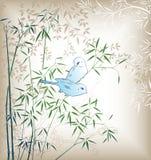 Oriental Tree and Bird Royalty Free Stock Image