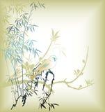 Oriental Tree and Bird Stock Photography