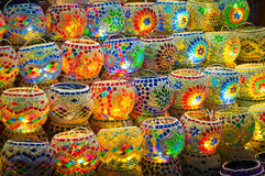 Oriental turkish lanterns Royalty Free Stock Photo