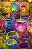 Oriental turkish lanterns at Istanbul market Stock Photos
