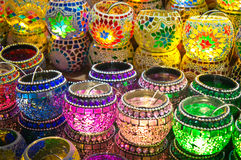 Oriental turkish lanterns at Istanbul market Royalty Free Stock Photography