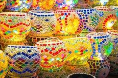 Oriental turkish lanterns at Istanbul market Royalty Free Stock Image