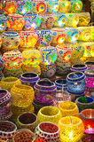 Oriental turkish lanterns at Istanbul market Stock Photo