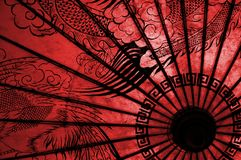 Oriental Umbrella. Oriental Umbrell in red Royalty Free Stock Image