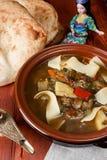 Oriental Uzbek soup Lagman Stock Photos