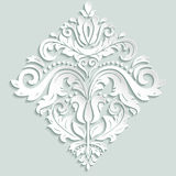 Oriental Vector Pattern With 3D Elements Royalty Free Stock Photo