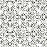 Oriental vector pattern with round arabesques elements. Vintage pattern with arabesques Stock Images