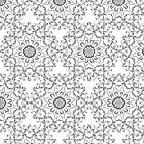 Oriental vector pattern with round arabesques elements. Vintage pattern with arabesques Stock Photography