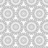 Oriental vector pattern with round arabesques elements. Vintage pattern with arabesques Royalty Free Stock Photo