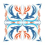 Oriental vector square ornament with arabesques elements Royalty Free Stock Image