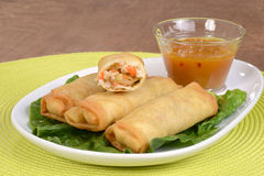 Oriental vegetable spring rolls Stock Photography