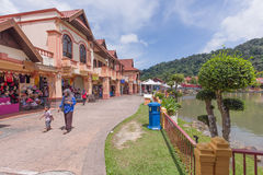 Oriental Village, Langkawi, Malaysia. A shopping view of the Oriental Village, Langkawi, Malaysia. This is also the site of the famous cable car station Royalty Free Stock Photography
