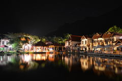 Oriental Village at night Royalty Free Stock Images