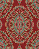 Oriental vintage ornament. Template for carpet, textile, wallpaper and any surface. Seamless  pattern on a red background Royalty Free Stock Images