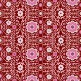 Oriental vintage wallpaper. Colorful oriental vintage wallpaper seamless ornament flowers stock illustration