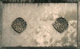 Oriental wall. Ornamental wall decoration, Shanghai, China Royalty Free Stock Photography