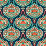Oriental wallpaper pattern. Oriental paisley seamless wallpaper pattern Stock Image