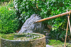 Oriental Water Feature in Holland Park Stock Photos