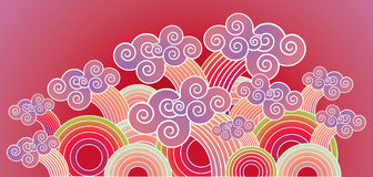 Oriental Waves Royalty Free Stock Photography