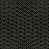 Oriental waves pattern. Traditional japanese seigaiha waves seamless pattern Stock Photography