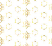 Oriental White pattern with gold stars Royalty Free Stock Image