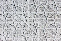 Oriental white wall ornament. Oriental white wall asian ornament Royalty Free Stock Photo