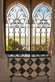 Oriental window with beautiful view Morocco Stock Photography