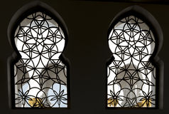 Oriental Windows. Oriental decoration on windows of Sheykh Zayed Grand Mosque, Abu Dhabi Stock Image
