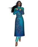 Oriental Woman - arms crossed Stock Photo