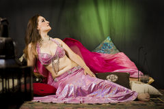 Oriental woman dancer Royalty Free Stock Images