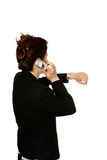 Oriental woman making call Stock Photo