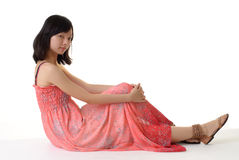 Oriental woman sit Royalty Free Stock Image