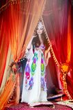 Oriental woman in traditional dress Royalty Free Stock Image
