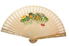Oriental wooden chinese fan Stock Image