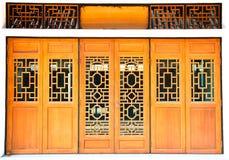 Oriental wooden door Royalty Free Stock Photography
