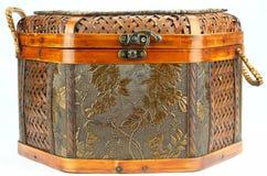 Oriental Woven Rattan Basket Stock Photos