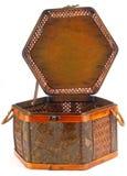 Oriental Woven Rattan Basket Stock Image