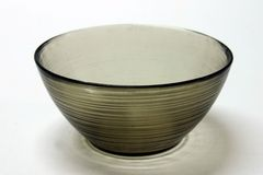 Oriental Zen Dining Bowl. Empty Oriental Zen Dining Bowl - against a white background Stock Photo