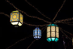 Orientale ha colorato le lampade Fotografie Stock