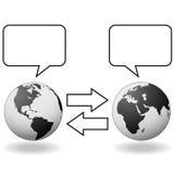Orientale incontra la comunicazione ad ovest di traduzione Fotografia Stock Libera da Diritti