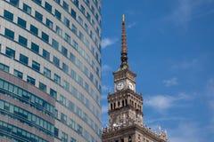 Orientale si incontra verso ovest a Varsavia, Polonia Fotografia Stock Libera da Diritti